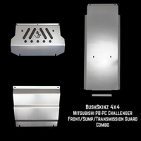 BushSkinz - Mitsubishi PB & PC Challenger Intercooler Sump & Transmission Transfer Case Guard Combo